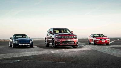 Jeep Grand Cherokee Trackhawk vs Audi Quattro vs Tvr Griffith... e una Model X