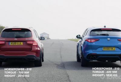 Stelvio Quadrifoglio vs AMG GLC 63S: sfida all'inferno verde