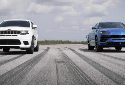 Lamborghini Urus VS Jeep Grand Cherokee Trackhawk: il video